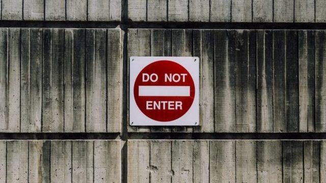 立ち入り禁止マーク